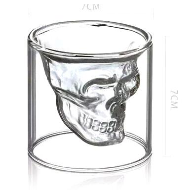 Glas Totenkopf Tasse Becher