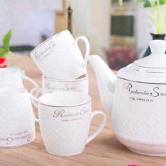 Tee-Set,Teekanne, PorzelanTasse, Tee Becher, tea cup, teapot