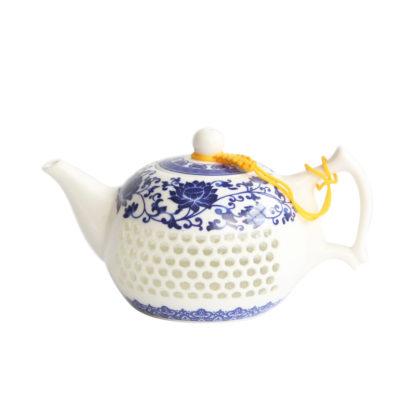 Teekanne, Porzelan, teapot, Glas,Glass.LK