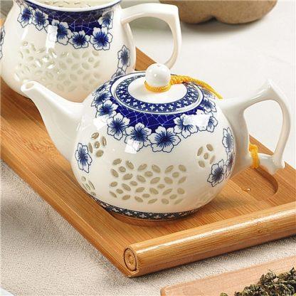 Teekanne, Porzelan, teapot, Glas,Glass