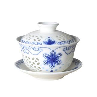 chinesische Porzellan Gaiwan Teetasse