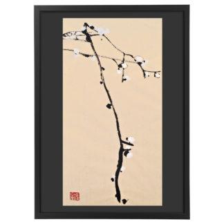 Weiße Pflaumenblüte,Tuschemalerei,Chinesische Malerei