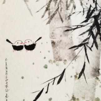 Bambus,Tuschemalerei,Chinesische,Malerei,chinese,painting