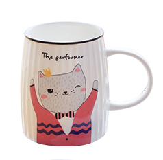 Tasse,Porzellan,Tee,Becher,cup,Cartoon,cat