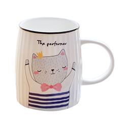 Tasse,Porzellan,Tee,Becher,cup,Cartoon,cat