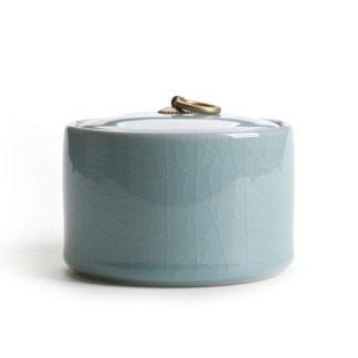 dose,blau,Porzellan,keramik,