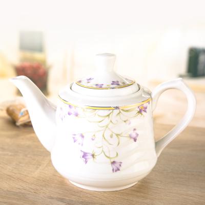 Porzellan, Tee, kanne, Teesieb, Lila