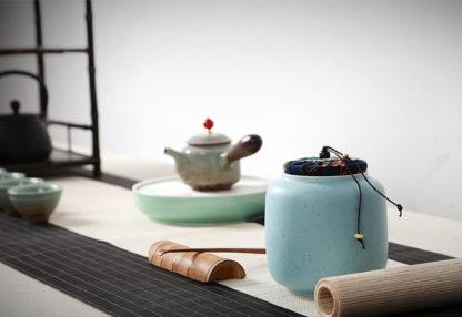 dose,Porzellan,keramik,blau