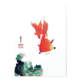postkarte postcard gold fish Fisch