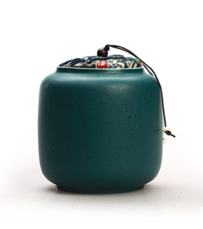 dose,dunkelgrün,Porzellan,keramik,