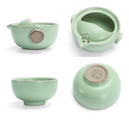 Handbecher,grün,Porzellan,Porzellan