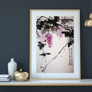 Traube Grape sumie painting chinesische japanische Tusche Malerei janpanises chinese ink painting