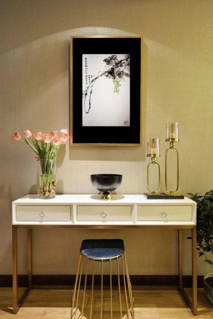 Traube Grape sumie painting chinesische japanische Tusche Malerei janpanises chinese ink painting