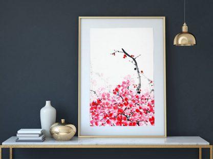 Pflaume plum sumie painting chinesische japanische Tusche Malerei janpanises chinese ink painting
