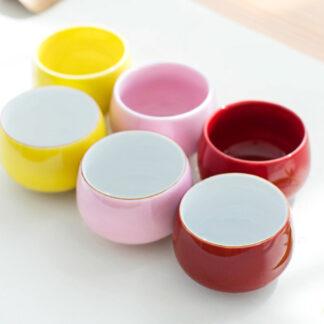 Bunte Tulpen Tee Tasse PorzellanGrün Blau Pink Weiß Rot Gelb