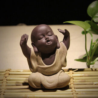 Lila sand Keramik Buddha
