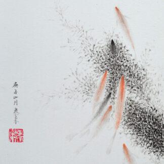 fish Fisch sumie painting chinesische japanische Tusche Malerei janpanises chinese ink painting
