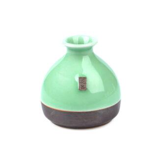 mini vase porzellan grün jade