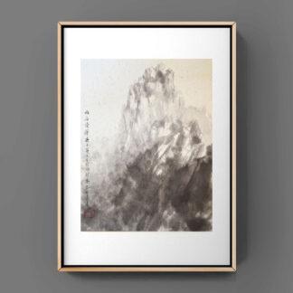 Berg mountain regen rain Landschaft landscape sumie painting chinesische japanische Tusche Malerei janpanises chinese ink painting