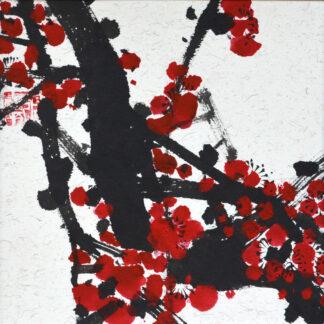 vase Pflaume plum sumie painting chinesische japanische Tusche Malerei janpanises chinese ink painting