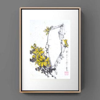 Daisy Chrysantheme sumie painting chinesische japanische Tusche Malerei janpanises chinese ink painting