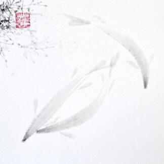 Fisch fish sumie painting chinesische japanische Tusche Malerei janpanises chinese ink painting