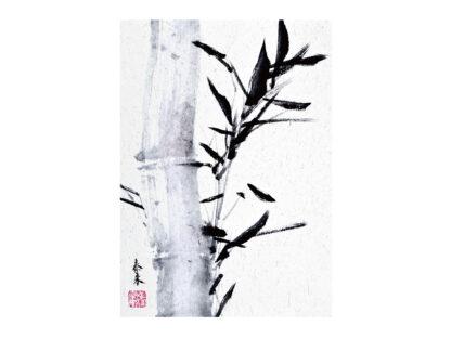 Bambus bamboo Postkarte postcard Tusche Malerei Sumi-e painting chinesische japanische Zeichnung Kunstpostkarten