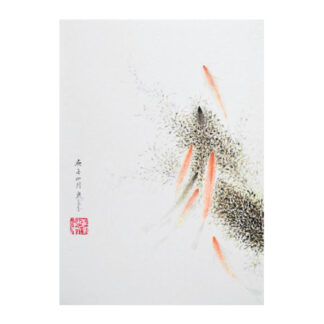 Postkarte Fisch Tusche Malerei Sumi-e painting chinesische japanische Kunstpostkarten