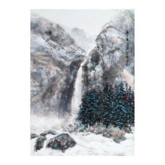 Postkarte Landschaft Tusche Malerei Sumi-e painting chinesische japanische Kunstpostkarten