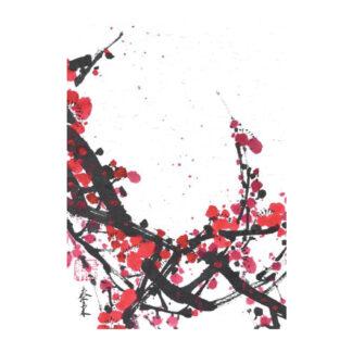 Postkarte Pflaumen Tusche Malerei Sumi-e painting chinesische japanische Zeichnung Kunstpostkarten