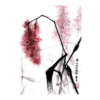 Postkarte Sorghum Tusche Malerei Sumi-e painting chinesische japanische Kunstpostkarten