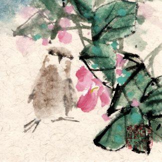 vogel bird Spatz sparrow sumie painting chinesische japanische Tusche Malerei janpanises chinese ink painting