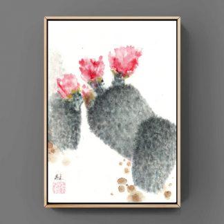 Kaktus cactus sumie painting chinesische japanische Tusche Malerei janpanises chinese ink painting 仙人掌