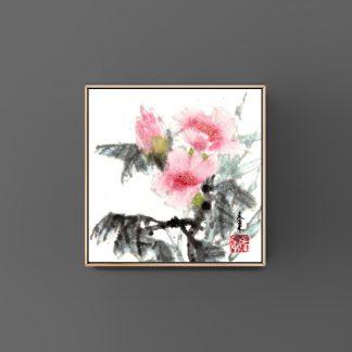 Kamelie Camellia sumie painting chinesische japanische Tusche Malerei janpanises chinese ink painting 山茶