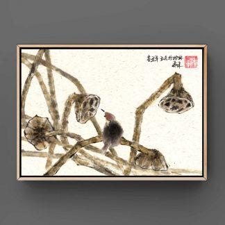 lotus lotos sumie painting chinesische japanische Tusche Malerei janpanises chinese ink painting 荷花