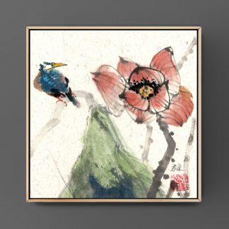lotus lotos sumie painting chinesische japanische Tusche Malerei janpanises chinese ink painting 荷花lotus lotos sumie painting chinesische japanische Tusche Malerei janpanises chinese ink painting 荷花