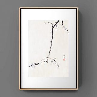 pflaumen plum sumie painting chinesische japanische Tusche Malerei janpanises chinese ink painting 梅花