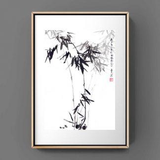 bamboo Bambus sumie painting chinesische japanische Tusche Malerei janpanises chinese ink painting 竹子
