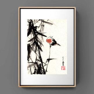 Bambus bamboo sumie painting chinesische japanische Tusche Malerei janpanises chinese ink painting 荷花lotus lotos sumie painting chinesische japanische Tusche Malerei janpanises chinese ink painting 水墨山水 フリーハンドの風景とインク 자자유형 풍경과 잉크