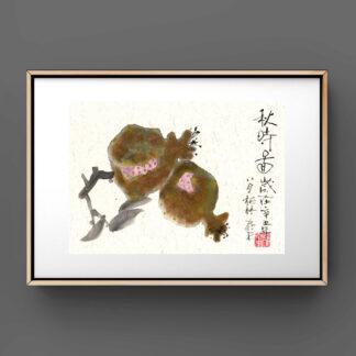 Pomegranate Granatapfel 石榴 painting chinesische Tusche Malerei japanische Sumi-e