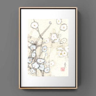 blumen flower sumie painting chinesische japanische Tusche Malerei janpanises chinese ink painting 花